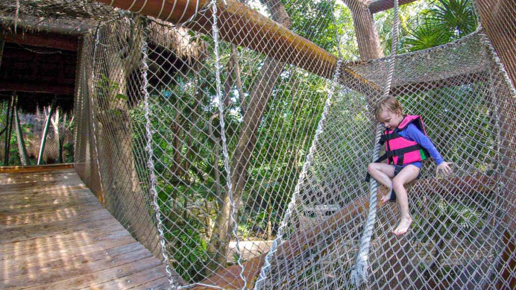 Our child loved the Secret Adventure obstacle course at Xcaret Children's World