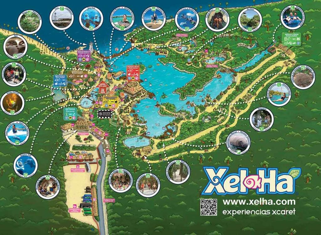 Plan your day with a Xel-Ha park map