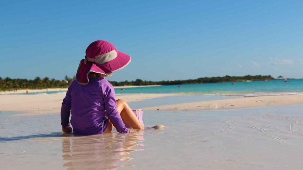 Xpu-ha is one of the best beaches near playa del carmen for kids