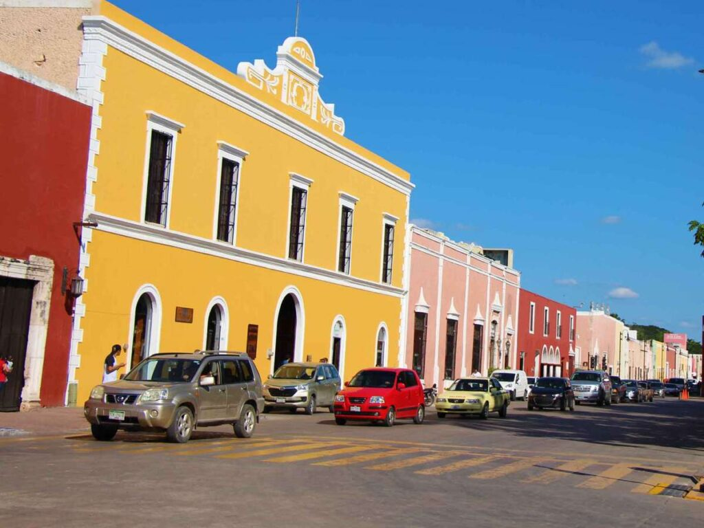 When visiting Chichen Itza try to stop to explore nearby the colorful town of Valladolid, Mexico