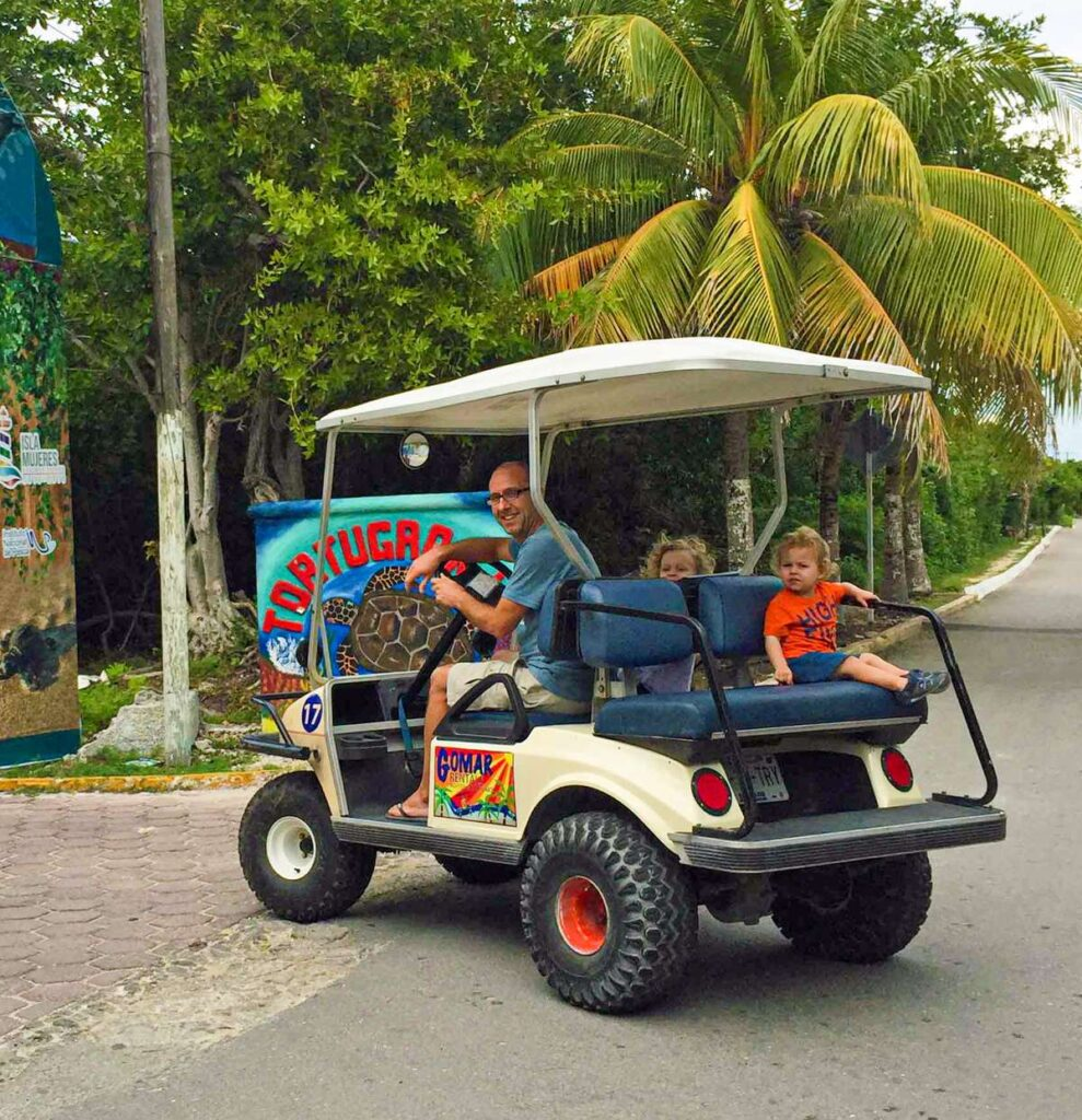 Our kids loved our Isla Mujeres golf cart rental