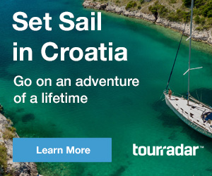 Ad for Croatia sailing tours by Tourradar