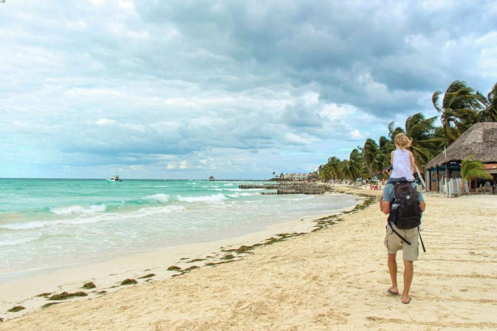 Playa Norte is a great beach on Isla Mujeres for kids