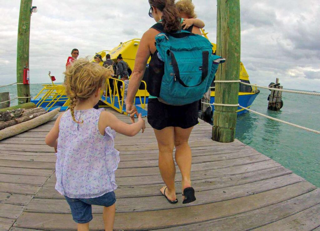 Taking the Ultramar isla mujeres ferry with kids