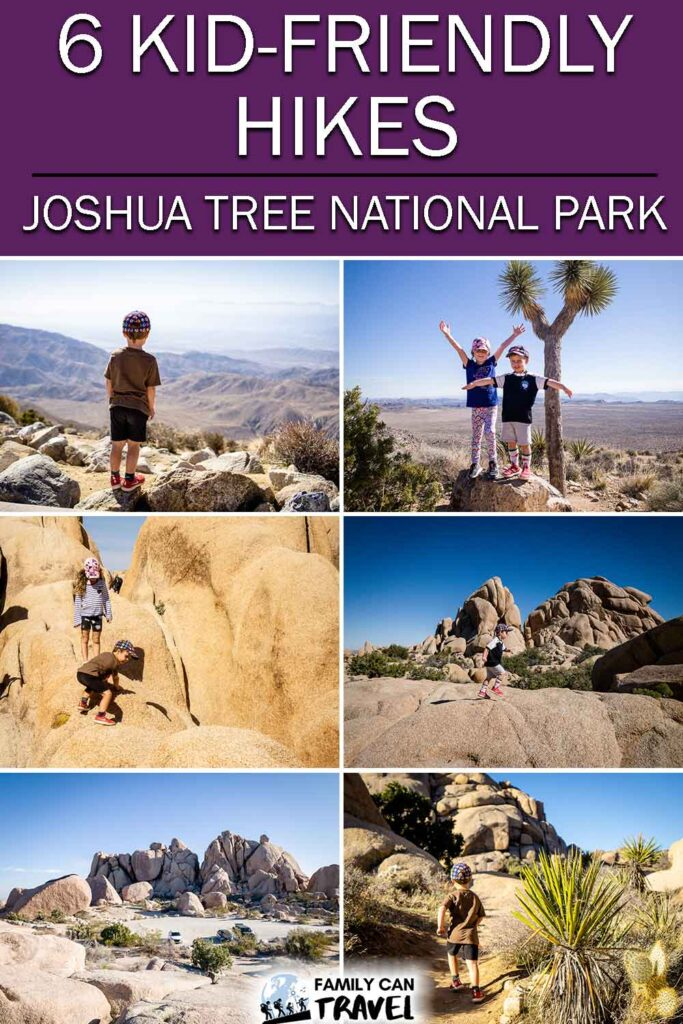 6 Kid friendly hikes in Joshua Tree National Park