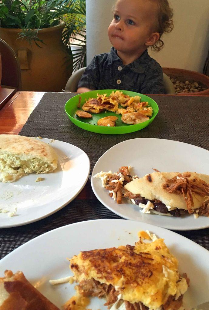 Arepas are a good kid-friendly food in Playa del Carmen