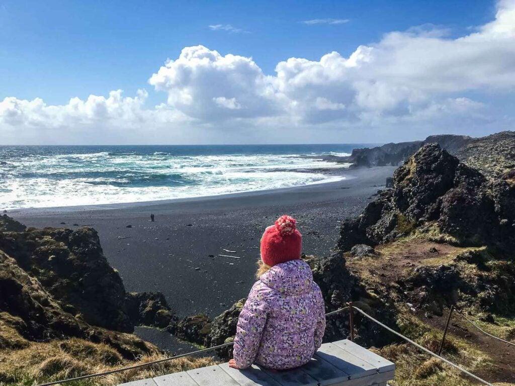 things to do on the Snaefellsnes Peninsula with kids - Djupalonssandur Beach - Snaefellsjoekull National Park Iceland