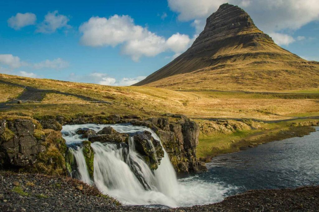 things to do in snaefellsnes peninsula with kids - Kirkjufellsfoss waterfall iceland