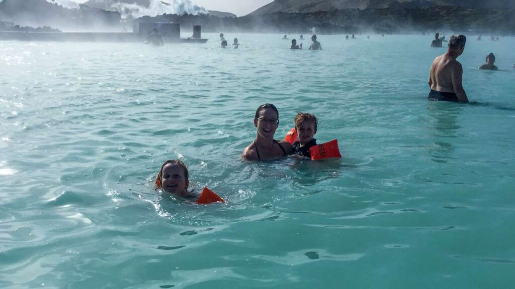 best things to do on a family trip to Iceland - blue lagoon iceland with children