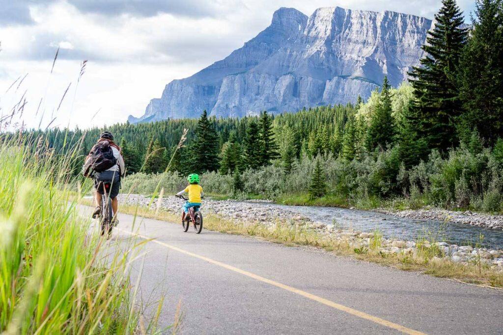 Biking Banff Legacy Trail with Kids