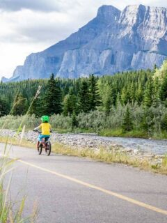 Biking Banff Legacy Trail with Kids