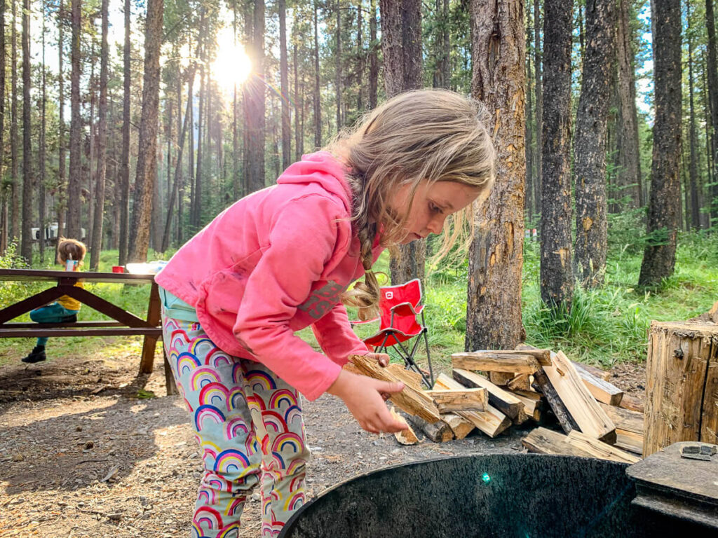 Camping in Banff National Park with Kids at Two Jack Main Campground
