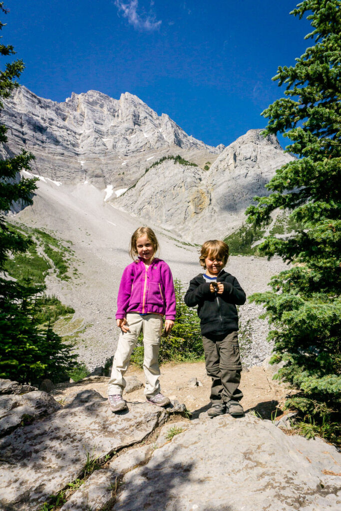 Hiking in Banff with Kids - C Level Cirque Hike