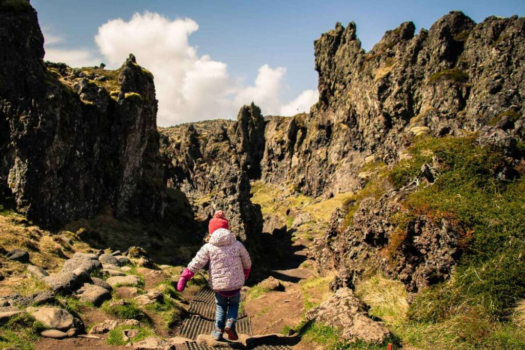 things to do on the Snaefellsnes Peninsula with kids - Walking to Djupalonssandur Beach - Snaefellsjoekull National Park Iceland