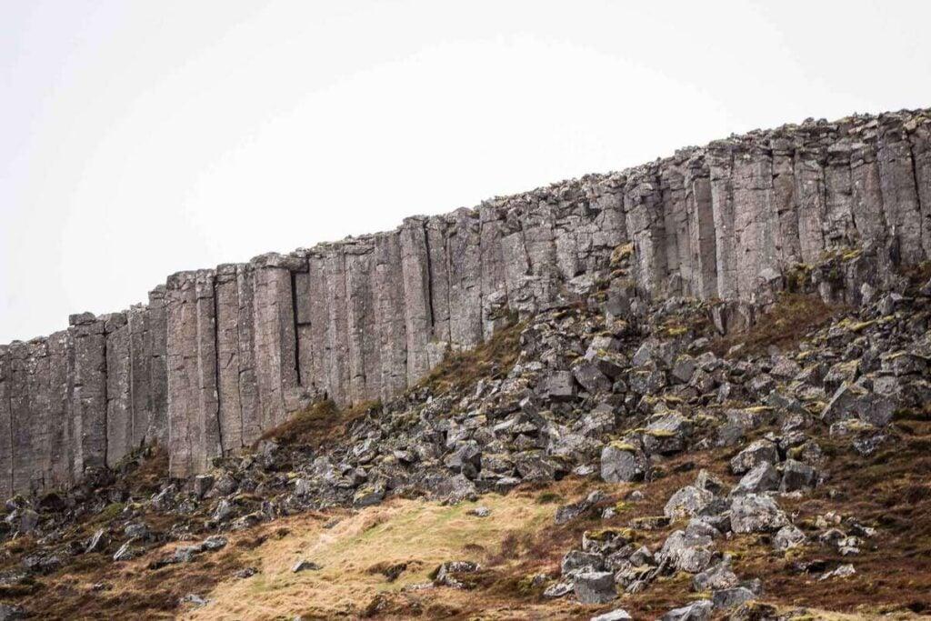 Gerduberg Cliffs Snaefellsnes Peninsula Iceland with kids