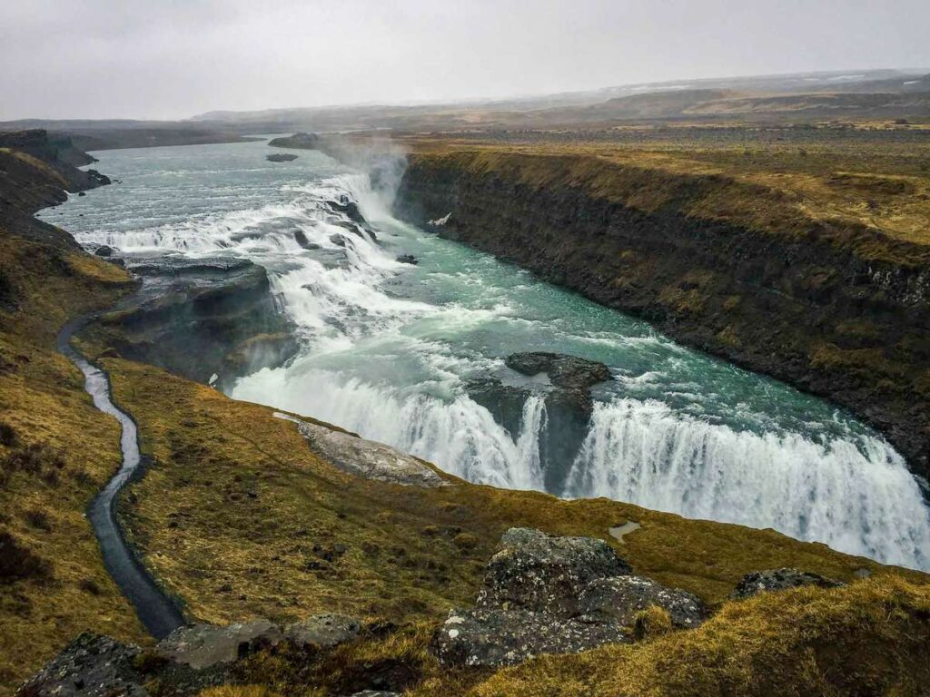 things to do in Iceland with children - golden circle attractions  - Gullfoss waterfall