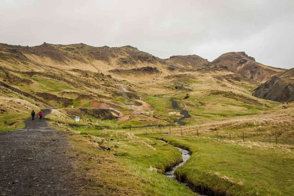 hveragerdi hot springs hike - things to do in the Golden Circle with kids