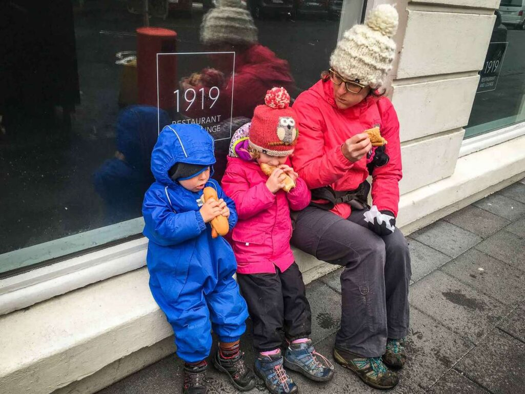 where to eat in reykjavik with kids - Baejarins Beztu Pylsur hot dog stand