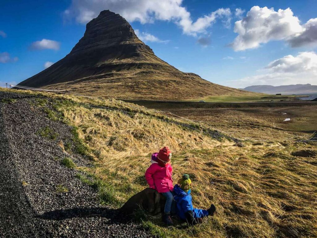 Things to do on an Iceland family vacation - visit Kirkjufell Mountain on the Snaefellsnes Peninsula Iceland