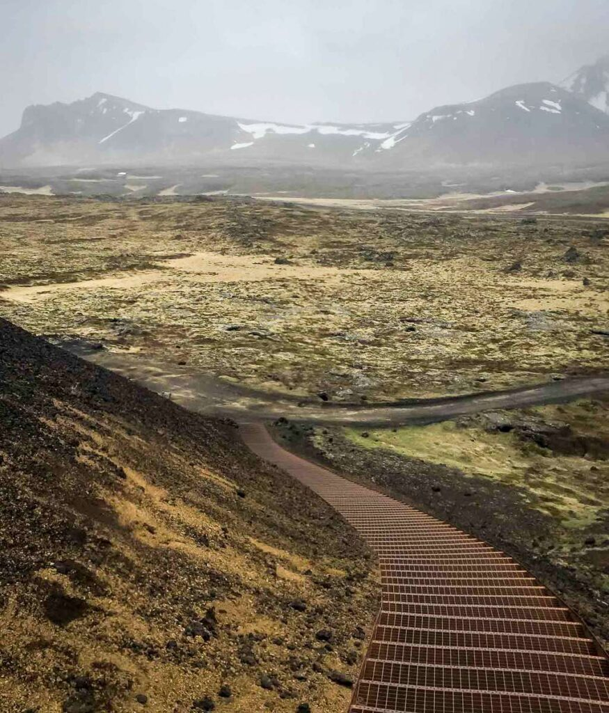 things to do in snaefellsnes iceland with kids - View from Saxholl Crater - Snaefellsjoekfull National Park - Iceland