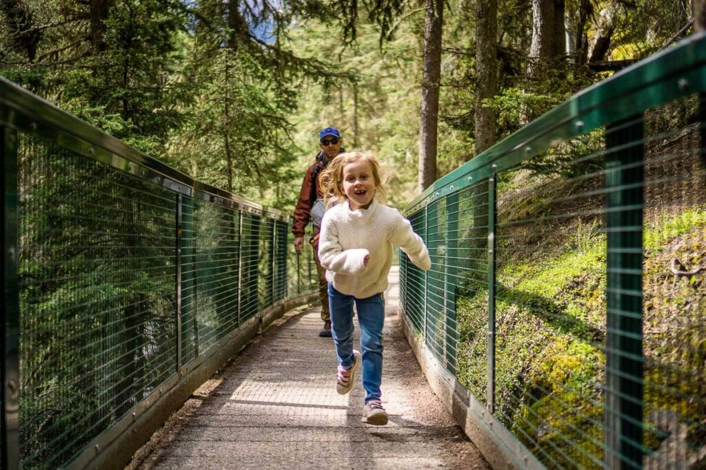 Johnston Canyon hike with Kids in Banff