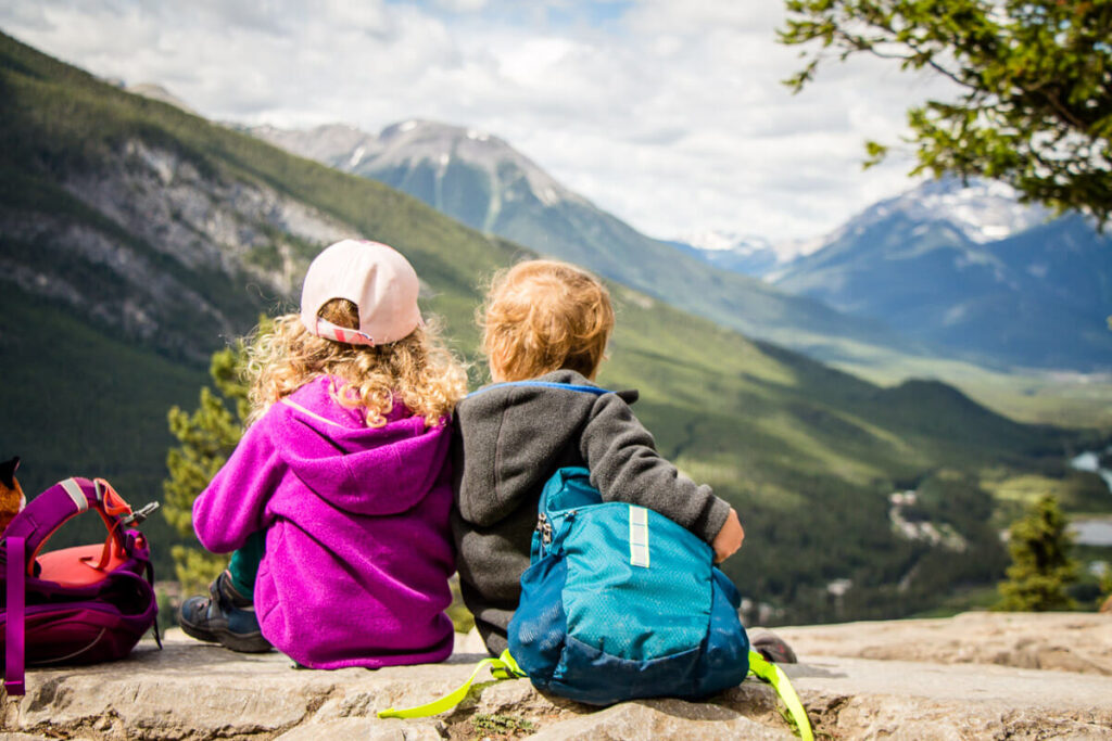 Tunnel Mountain Hike in Banff with Kids