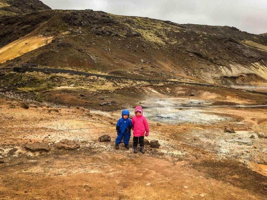 things to do in Reykjavik with kids - krýsuvík geothermal area