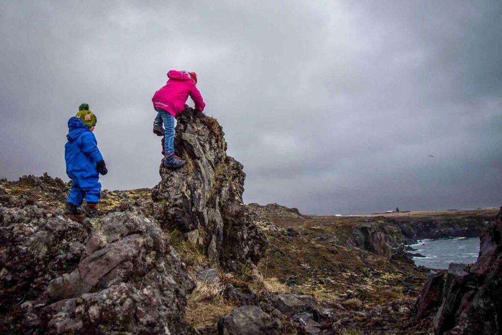 Things to do in the Snaefellsnes Peninsula with Kids - Hiking Arnarstapi to Hellnar