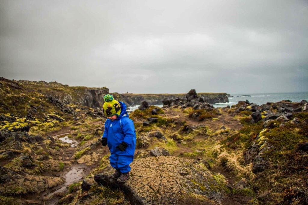 kid-friendly snaefellsnes peninsula hiking trails - Hellnar to Arnarstapi Iceland