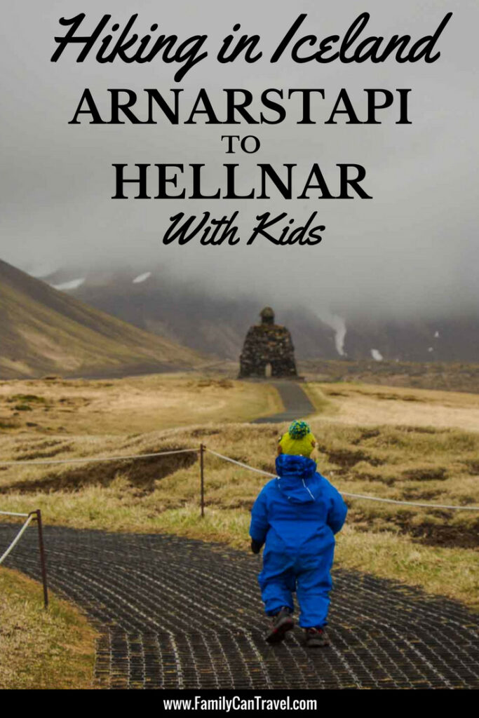 Looking for a kid-friendly hike in Iceland? Hike the Arnarstapi to Hellnar trail on the Snaefellsnes Peninsula for some of the most incredible scenery! #hikingwithkids #iceland #snaefellsnespeninsula #arnarstapi #hellnar