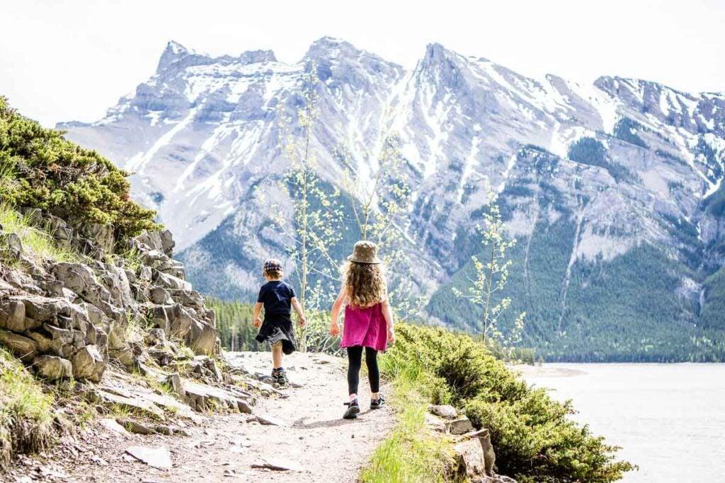 Easy hike in Banff - Stewart Canyon trail from Lake Minnewanka