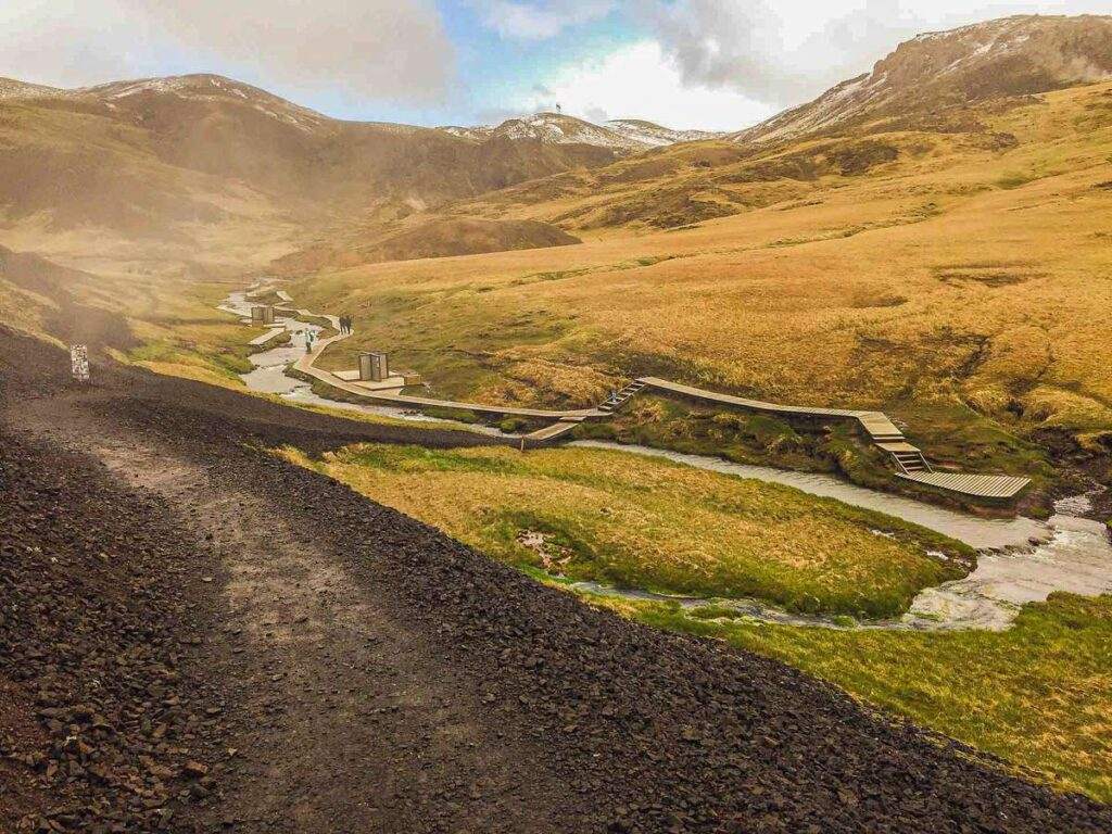 visit hveragerdi hot springs in the Golden Circle Iceland