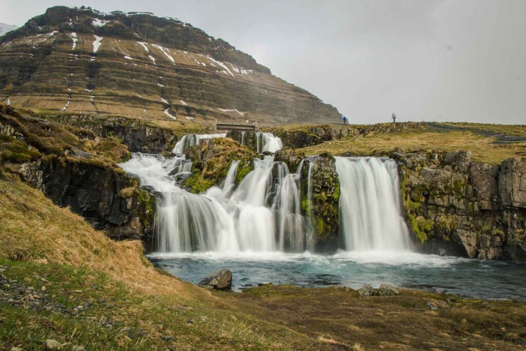 Iceland family vacation planner - Kirkjufellsfoss waterfall Snaefellsnes Peninsula
