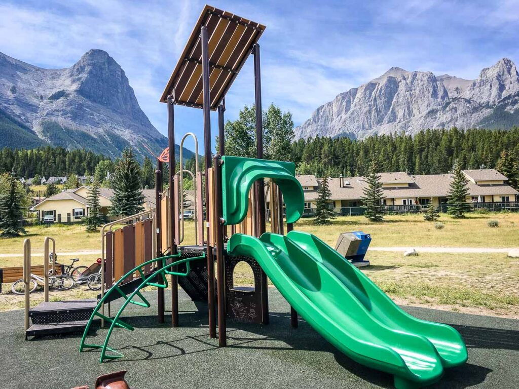 West Canmore Park Playground for kids