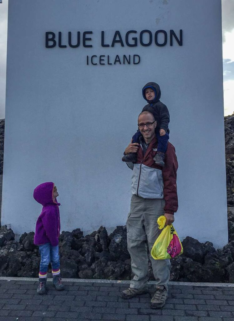 Visit the Blue Lagoon with kids in Iceland