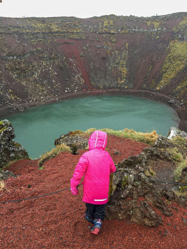 things to do in Iceland with kids - hike Kerid Crater Lake