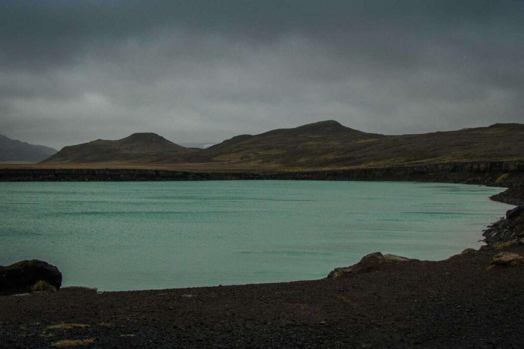 things to do in iceland with kids - Gígvatnsvatn Lake in Reykjanesfólkvangur Nature Preserve near Reykjavik