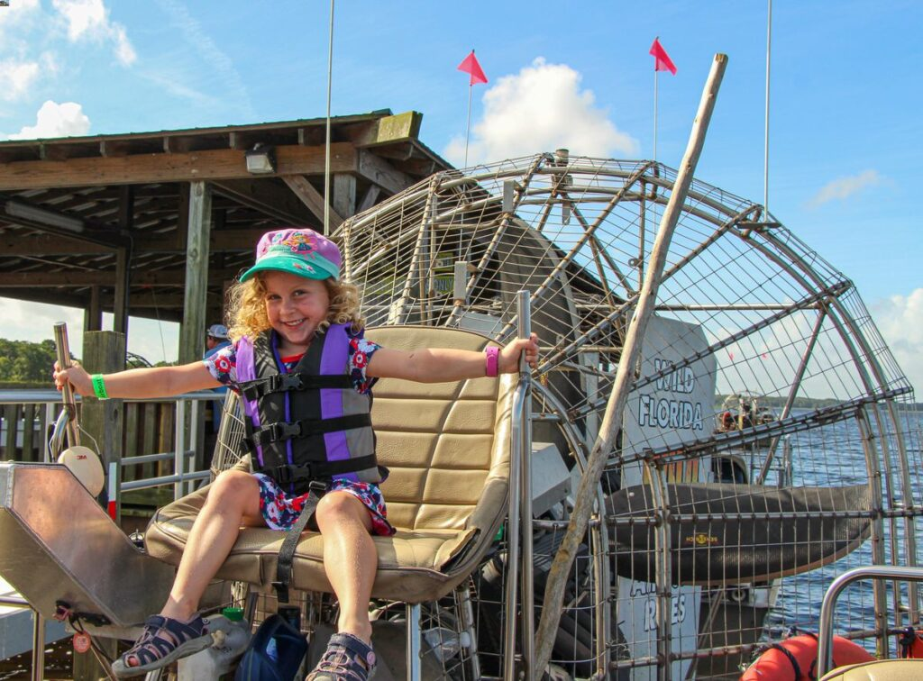 southern states road trip with kids - Florida airboat tour