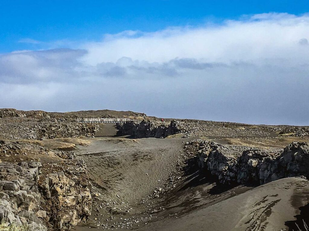 things to do in Iceland for kids - Midlina The Bridge Between Continents near the Blue Lagoon