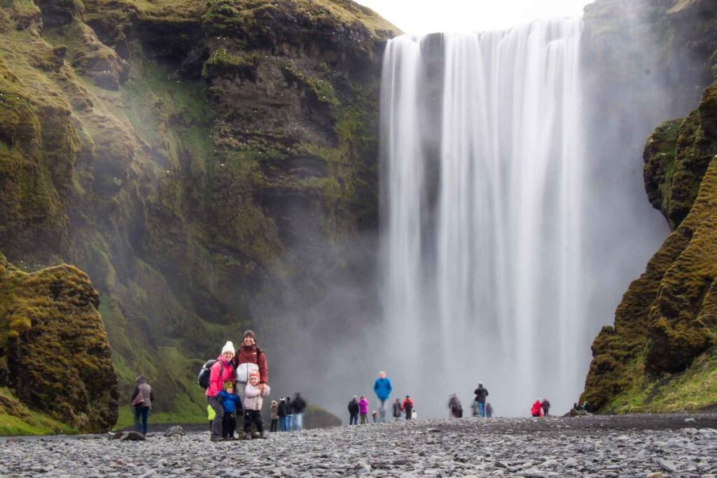 things to do in Iceland with Kids - Skogafoss Waterfall and Waterfall Way Hike