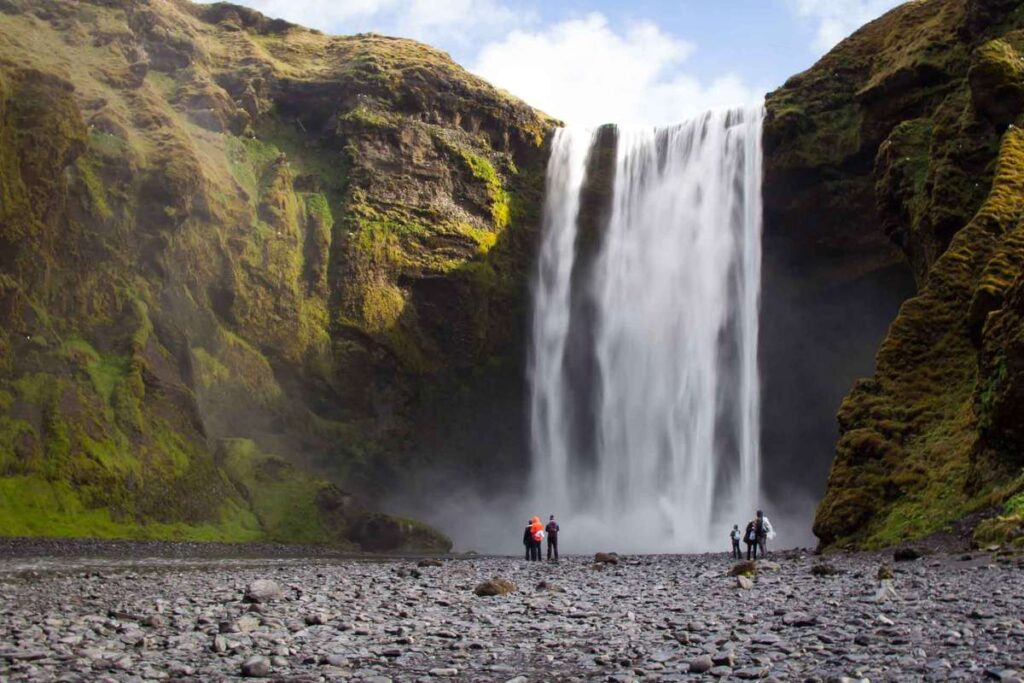 Things do Around Iceland with Kids - Skogafoss Waterfall and Hike near Reykjavik