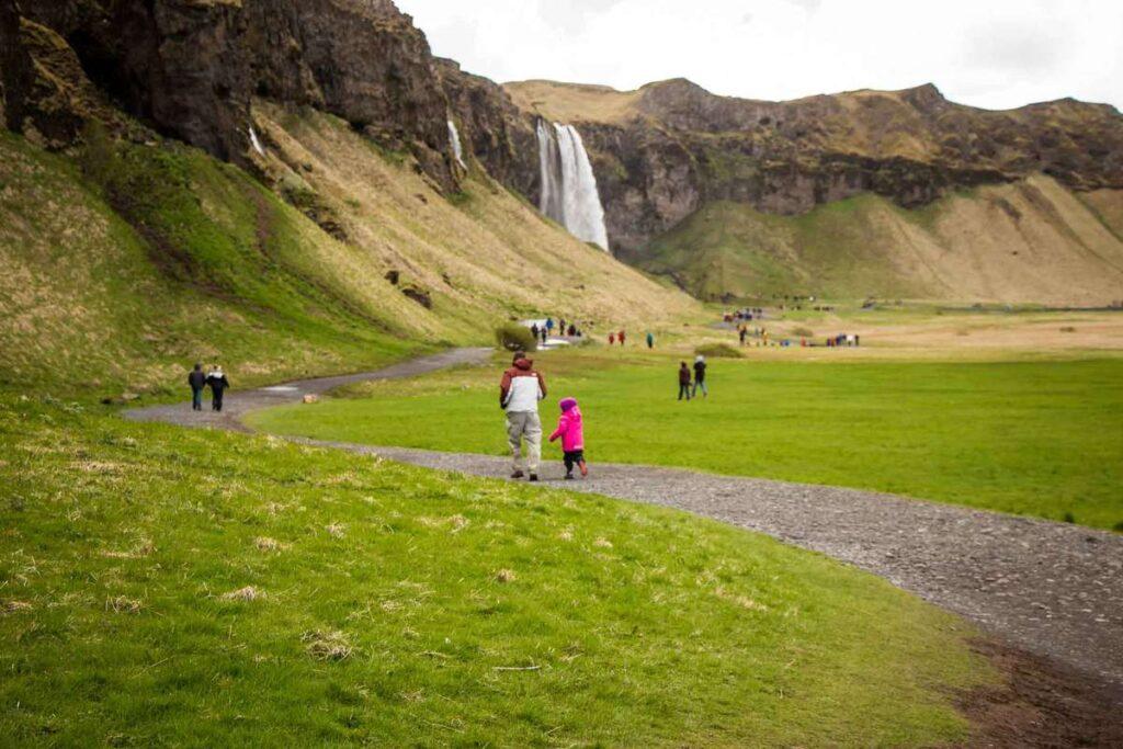 kid-friendly hikes near Reykjavik with kids - seljalandsfoss waterfall hike - South Iceland