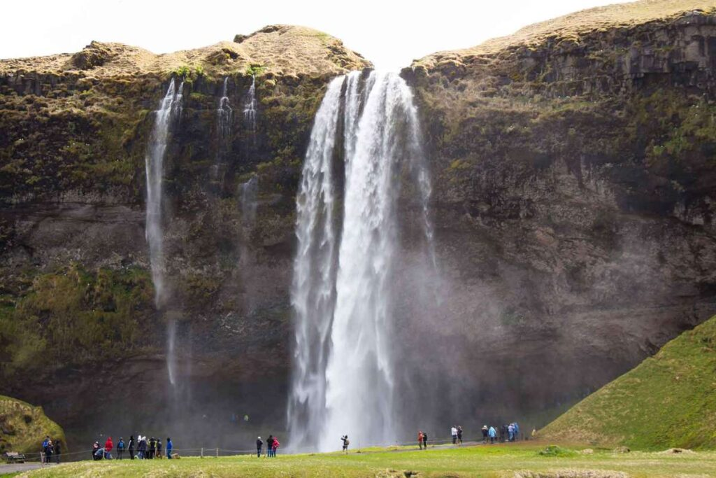 things to do in Iceland with kids - must do reykjavik attractions - View of Seljalandsfoss waterfall in South Iceland