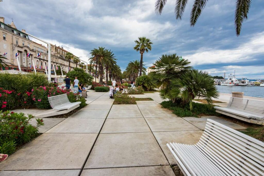 The Riva promenade in Split, Croatia is one of the best places to visit in croatia