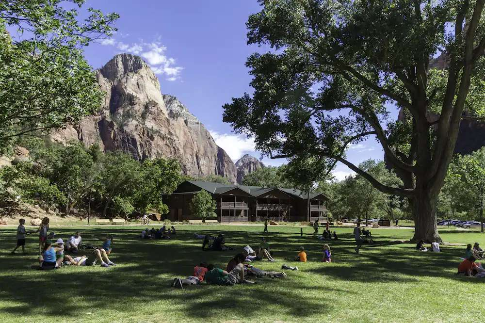 where to stay when visiting zion with kids - Zion Lodge at shuttle stop 5