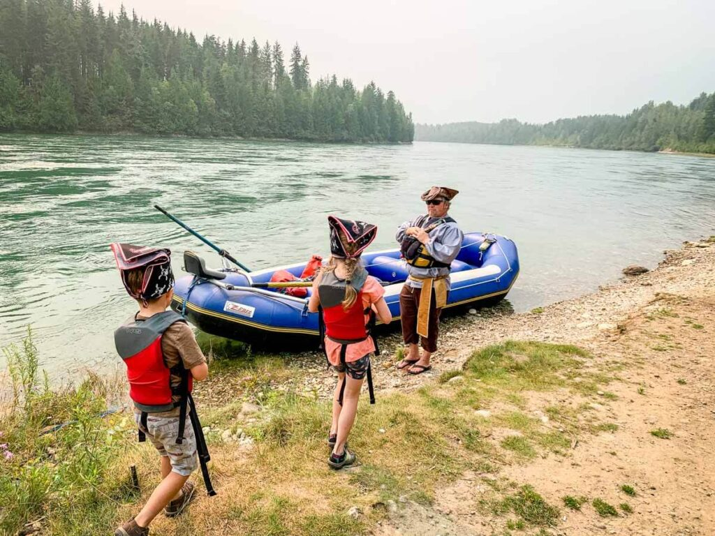 The river pirate float trip is a great thing to do with kids in Revelstoke
