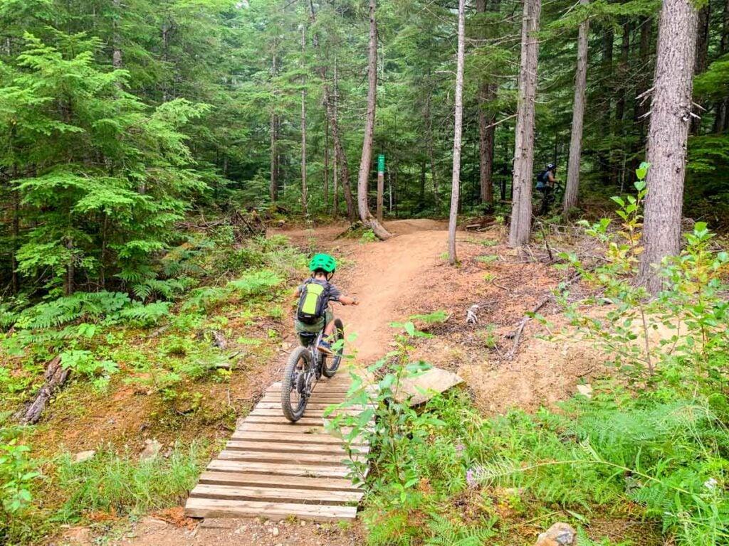 canada mountain bike with kids - Revelstoke, BC - Mount Macpherson area