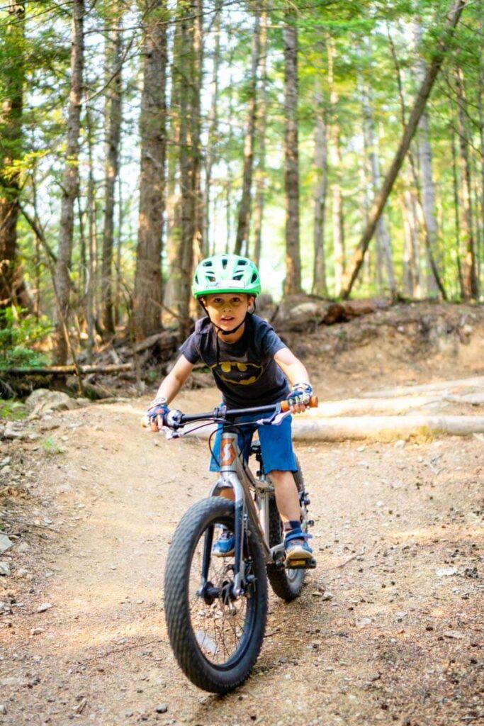easy mountain bike trails in revelstoke for kids - Mount Macpherson learning loop