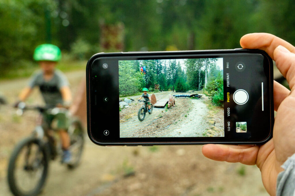 If you go camping in Mount Revelstoke National Park, bring your mountain bikes so the kids can try the Beaver Lods Kids' Bike Park