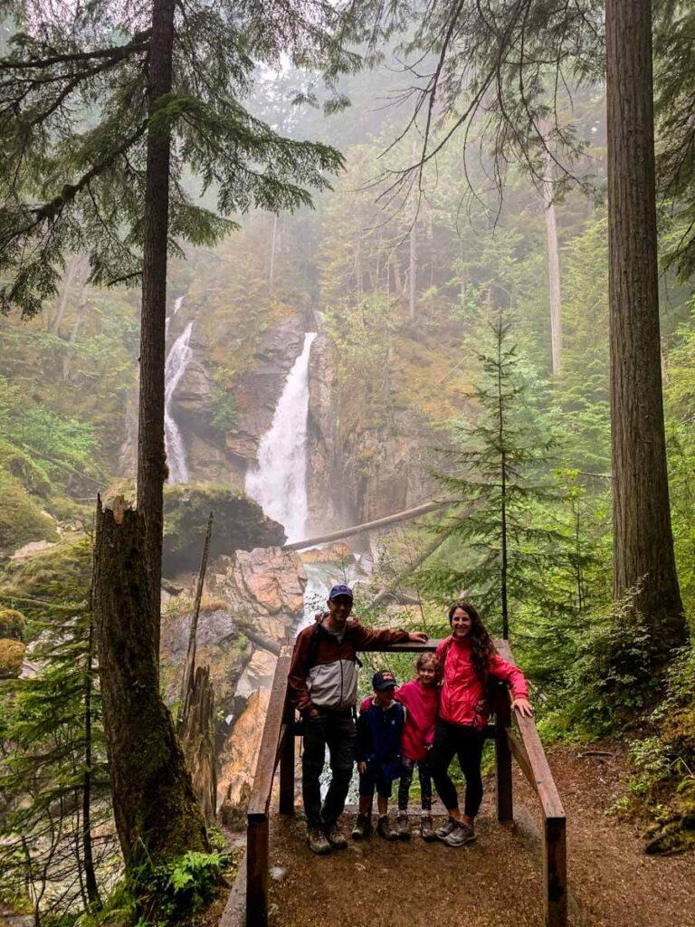 easy waterfall hikes near revelstoke for kids - Begbie Falls